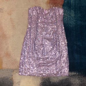 NWT Nasty Gal Sequin Strapless Dress
